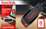 FLASH DISC SANDISK 8GB CRUZER BLADE CZ50