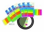 BANTEX-FLEXI TAB 5 NEON COLORS 12X45MM 8870