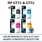 HP GT51 black & hp GT52 color - Black