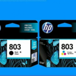 HP 803 Black-Color Cartridge Hitam Dan Warna